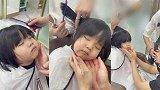 广东广州:笑翻!3岁萌娃剪头发睡着,三名店员全程VIP服务