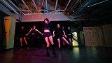 舞蹈室美女翻跳CLC《NO》,清冷帅气!
