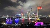 上海外滩璀璨灯光秀 点燃外滩国庆夜