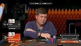 德州扑克:KK撞QQ,两位大佬直接全推,看完翻牌差点哭了