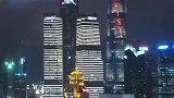魅力夜上海华灯耀浦江,中国红