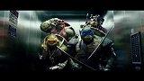 忍者神龟:即将大战机器人,忍者神龟电梯斗舞,该不会是害怕吧