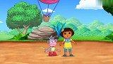 《爱冒险的朵拉》朵拉和猴子一起去寻找本尼牛,他的角扎破了气球