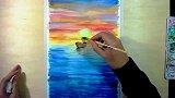 4005OY原创水彩画-航行在海上