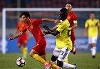 国足热身赛-中国vs哥伦比亚