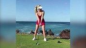 美女+美景 这样打高尔夫实在太完美